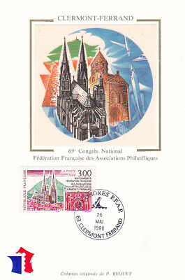 Carte Maximum France Cathédrale De Clermont Ferrand 1947