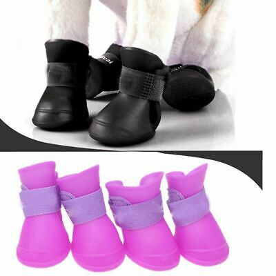 Pet Supplies Candy Color Puppy Rainy Boots Waterproof Dog Shoes PU Rubber