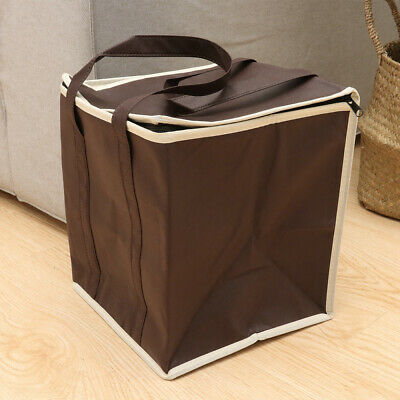 Thermal Insulated Food Delivery Bags Nonwovens Cooler Bags Grocery Bags W/ Strap