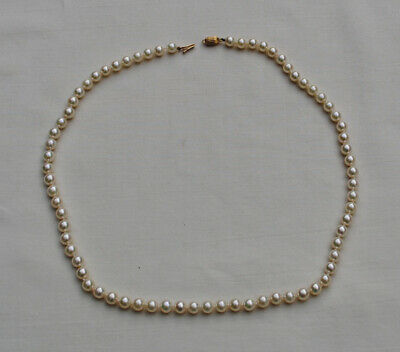 COLLIER DE PERLES DE CULTURE FERMOIR OR MASSIF 18K Gold Pearl Necklace