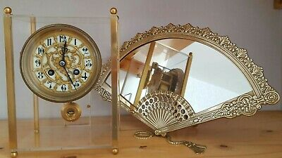 ANTIQUE FRENCH CLOCK SET BY SAMUEL MARTI c1889