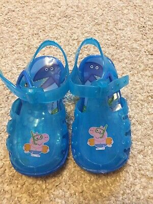 George Pig Jelly Shoes Infant Size 4 Uk