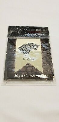"""Game of Thrones Stark Banner 30"""" x 50"""" Official HBO Licensed Product Calhoun NEW"""