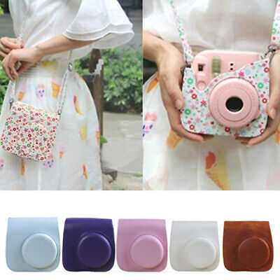 For Fujifilm Instax Mini 8 9 Camera 7 Colors PU Leather Carrying Bag Case Cover