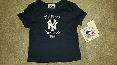 NEW Infant Baby Boys Girls MAJESTIC My First NY YANKEES Tee T-SHIRT 18 M Months