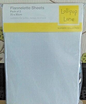 Lollipop Lane Treacle /& Bubble Pram Moses flannelette sheet 70x90cm lime lemon