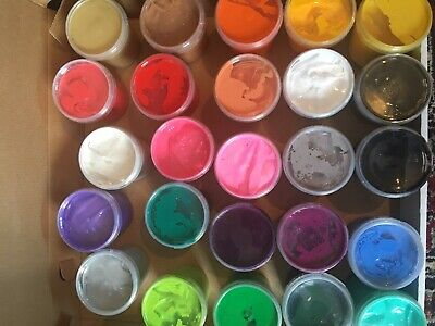 25 GORGEOUS COLOURS SCREEN PRINTING INK WATER BASED INK PAINT 155ml TUBS