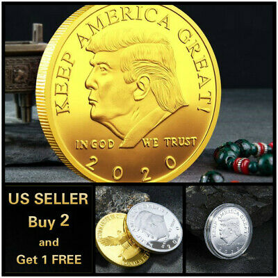 Donald Trump 2019 Keep America Great Commemorative Gold Eagle Coin Style A -Gold