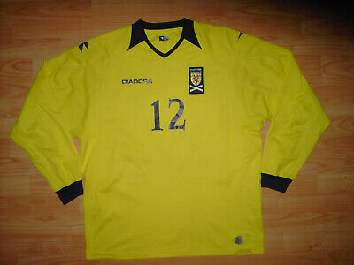 MATCH WORN Scotland 2008 Goalkeeper Shirt #12 XL Diadora Jersey