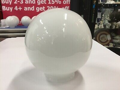 "Art Deco Vintage White Shade Glass Sphere 6"" Lamp Light Diana Round Pendant"