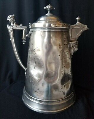 Reed & Barton 1854 Beverage Pitcher ptd JA Stimpson