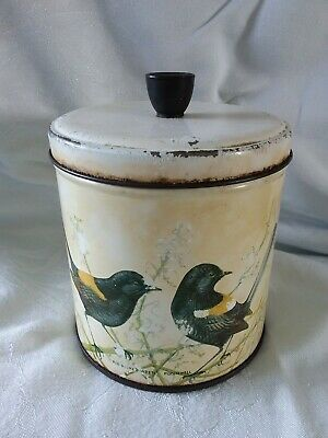 Vintage Willow Tin/Cannister Robin Hill Series - Red-Backed Wren