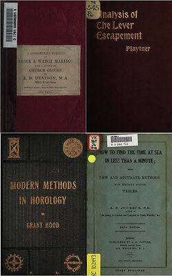 125 Rare Books On Horology, Pocket Watch, Clock, Sundial, Repair & More-Vol1 Dvd