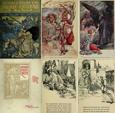 The Faerie Queene Illustrated Walter Crane Arts & Crafts 6 Volumes (1895) On Dvd