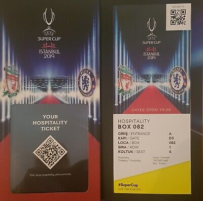 2019 UEFA SUPER CUP FINAL LIVERPOOL v CHELSEA WELCOME PACK + USED VIP TICKET