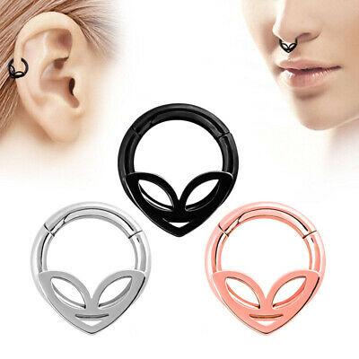 Et Alien Steel Hinged Segment Ring Hoop Cartilage Nose/Lip/Ear/Septum Piercing