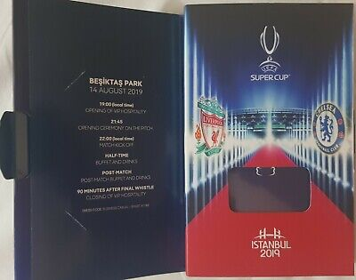 2019 UEFA SUPER CUP FINAL LIVERPOOL v CHELSEA EMPTY UEFA WELCOME PACK NO TICKET
