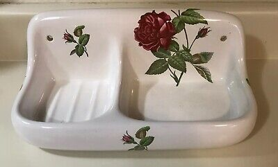 Vintage  Porcelaine De Paris Bathroom/kitchen Accessory Soap Holder