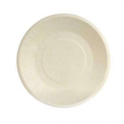 10 x Disposable Plate with Wide Rim Biowood Catering & Functions 220mm