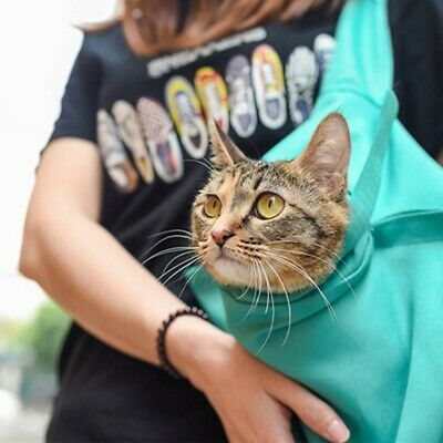 Small Dog Cat Carrier Sling Bag Hand Free Pet Puppy Outdoor Travel Bag Pouch CA