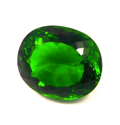 Awesome Treated Faceted Emerald Cabochon Loose Gemstone 49 ct NG12287