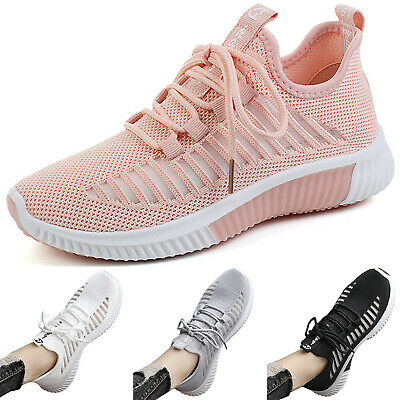Womens Hollow-Out Breathable Sneakers Trainers Sports Mesh Casual Running Shoes