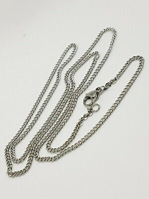 10 pieces 304 stainless steel curb chain 60 cm lobster clasp