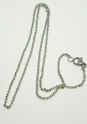 10 pieces 304 stainless steel cable chain 45 cm lobster clasp