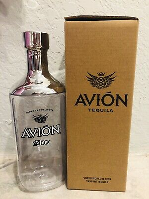 Brand New Avión Tequila Ultra Premium Glass & Stainless Steel Cocktail Shaker