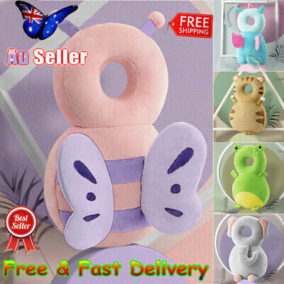 Baby Infant Walking Head Neck Back Protector Pillow Safety Cushion Soft Pad AU
