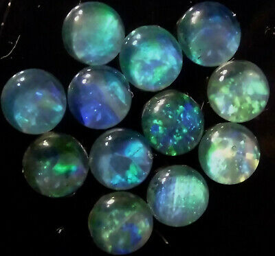 OPAL TRIPLETS FOR STUDS OR EARRINGS 50 of 5 mm A GRADE CABOCHONS 20 carats