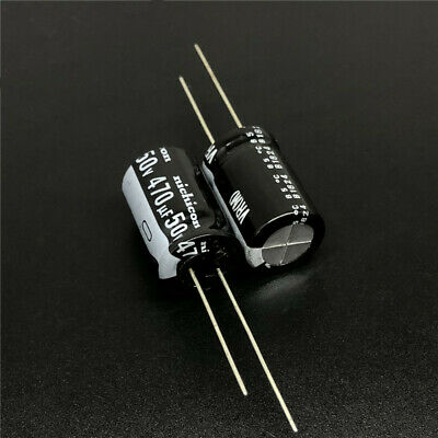 5pcs 470uF 400V Japan Nichicon GU 35x42mm  Snap-in Capacitor