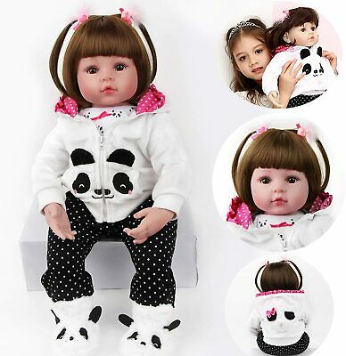 "Toddler Baby 22"" Reborn Dolls Girl Soft Silicone Vinyl Handmade Best Xmas Gifts"