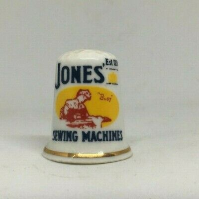 Collectable Thimble - JONES SEWING MACHINES  LOGO ADVERTISING  (AA185)