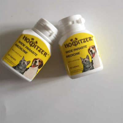 Cat&Dog Worming tablets - Wormer Dewormer Panacur Canine HOWITZER 60tabs