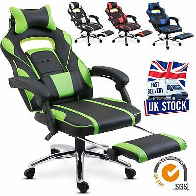 Executive Gaming Racing Chair Office Computer Recliner Adjustable Leather Swivel