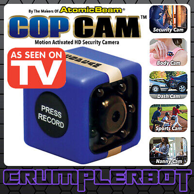 Cop Cam Wireless Security Camera Motion Detection Night Vision HD 8GB SEEN ON TV