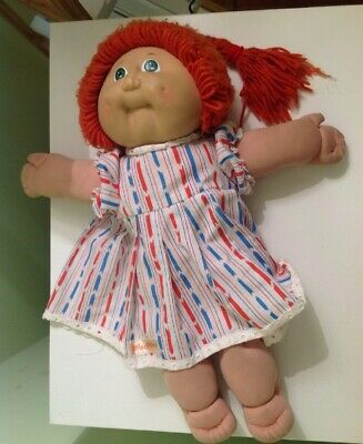1980s CABBAGE PATCH KID Original Red Hair, Green Eyes  Dimples SIGNED