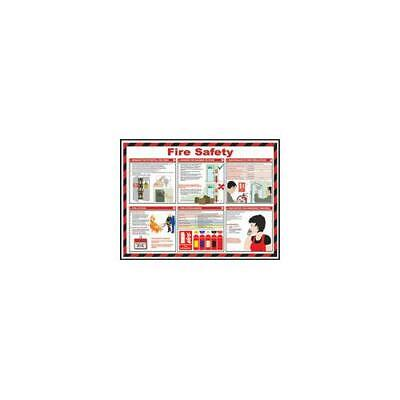 Health and Safety Poster Fire Safety 420x590mm FA601