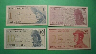 4X Indonesian Notes 1964.