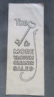 1940's Circa The Key to More Vacuum Cleaner Sales Noyes Bros. (Melb) Near Menzie