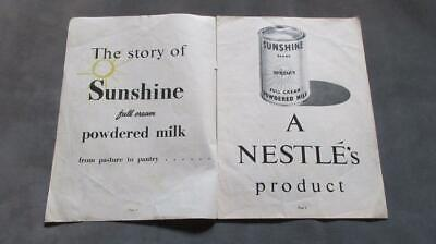 1950's Circa The Story of Sunshine Full Cream Powdered Milk A Nestle's Product.