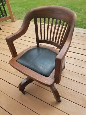 Solid Wood Rolling Swivel Office/house Chair