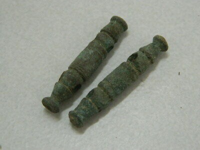 Ancient Bronze 2 Pendants Bactrian 300 BC #GL1714