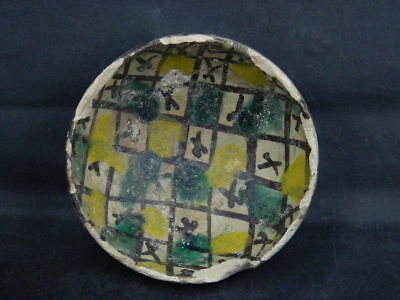 Ancient Glazed Bowl Islamic 1100 AD #PT5214