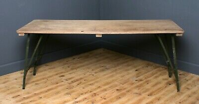 Attractive Large Vintage Retro Army Folding Table