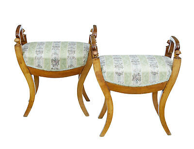 Pair Of 19Th Century Swedish Birch Stools