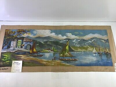 Dinant Hand Tinted Painted Needlepoint Tapestry Canvas Nautical 1479