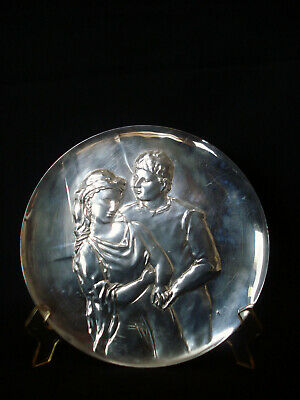 "PICASSO 999 Sterling Silber Teller "" Geliebter "",Hamilton Mint 1973"