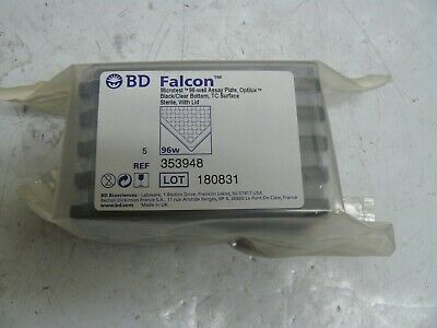Bd Falcon 353948 Microtest 96 Well Assay Plate Optilux Black Clear Bottom New